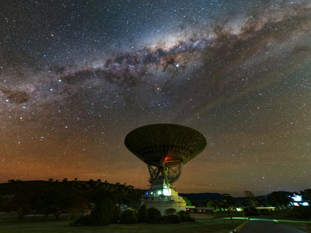 Photo of the Canberra Deep Space Communication Complex (CDSCC) which will be tracking the mission to Mars.