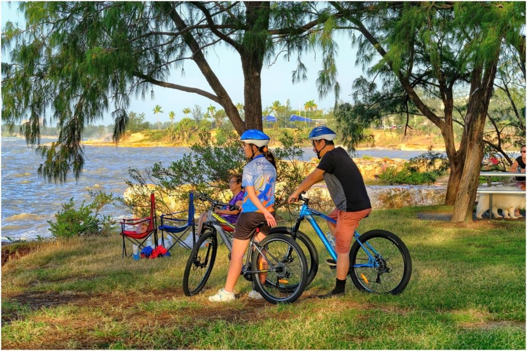 cyclists, Darwin, Northern Territory, improving Darwin's parks