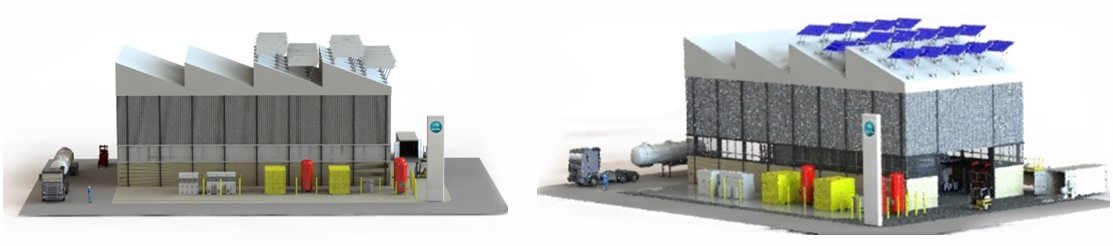 The proposed hydrogen technology demonstration facility and hydrogen refuelling system.