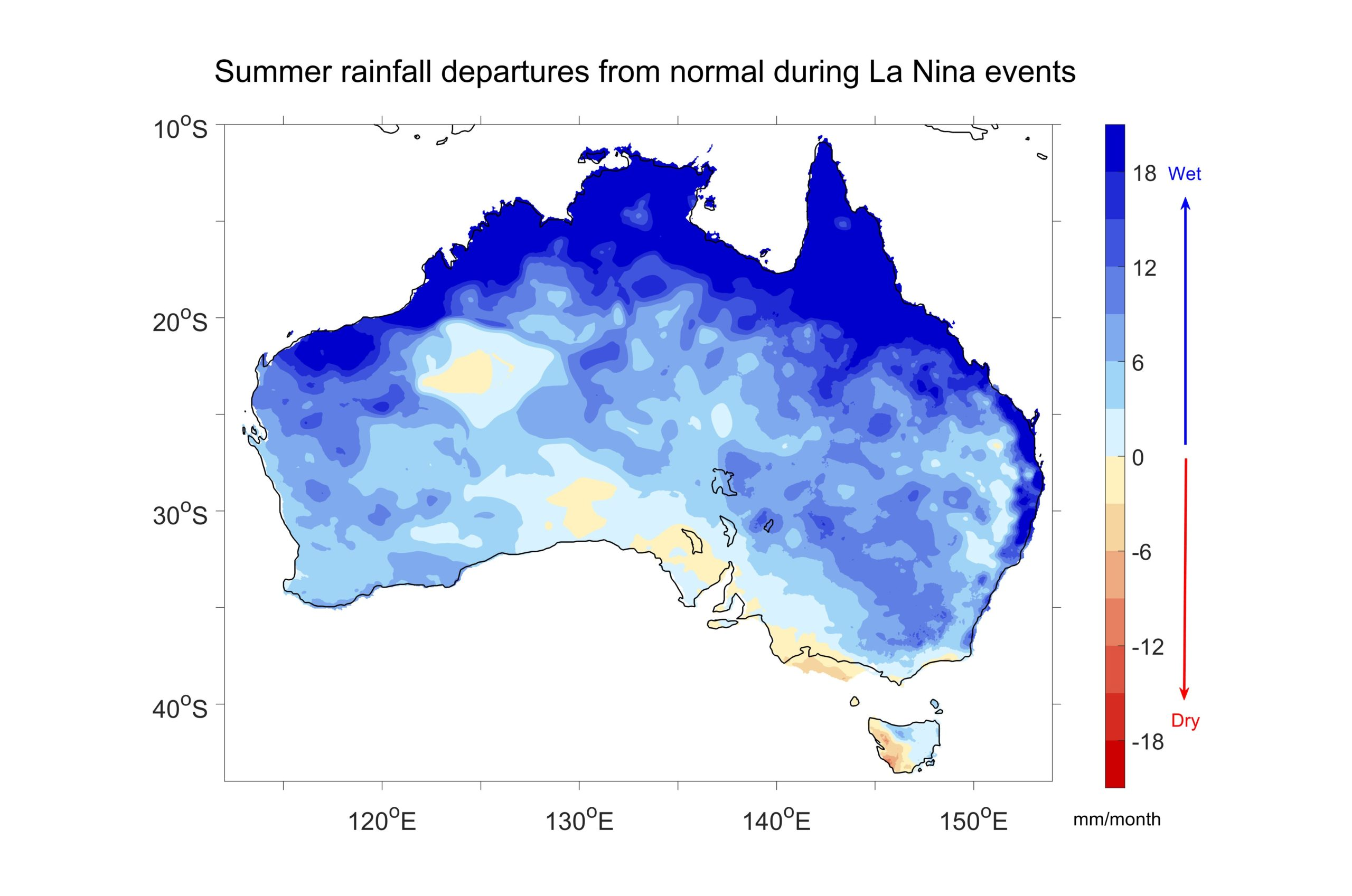 rainfall map of Australia