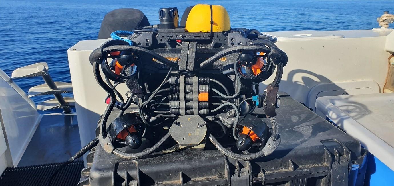 A close up of an ROV