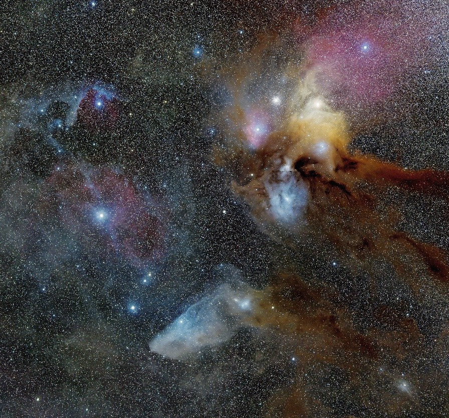 An astrophotography image of stars in the nights sky.