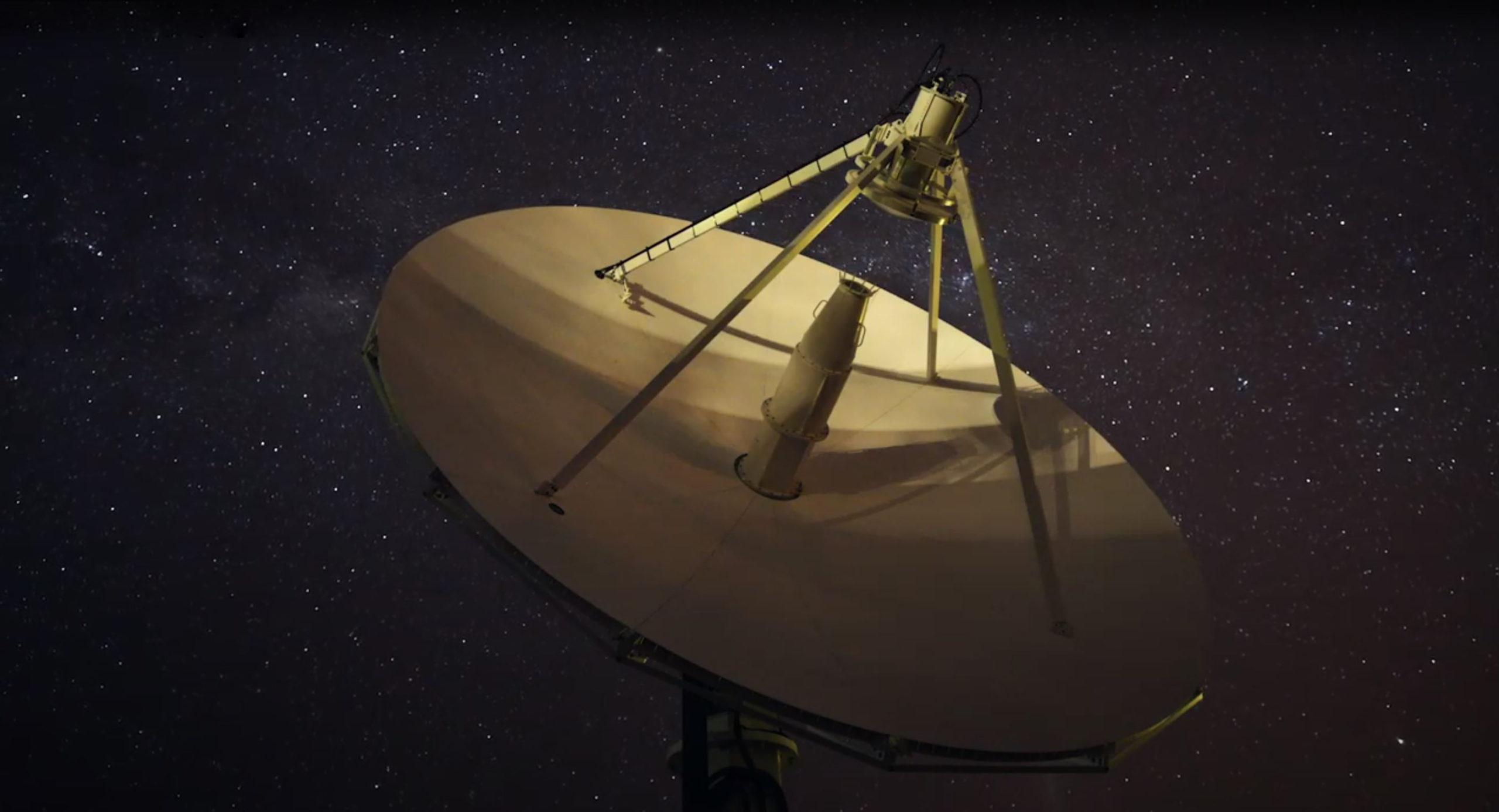 A dimly shot satellite
