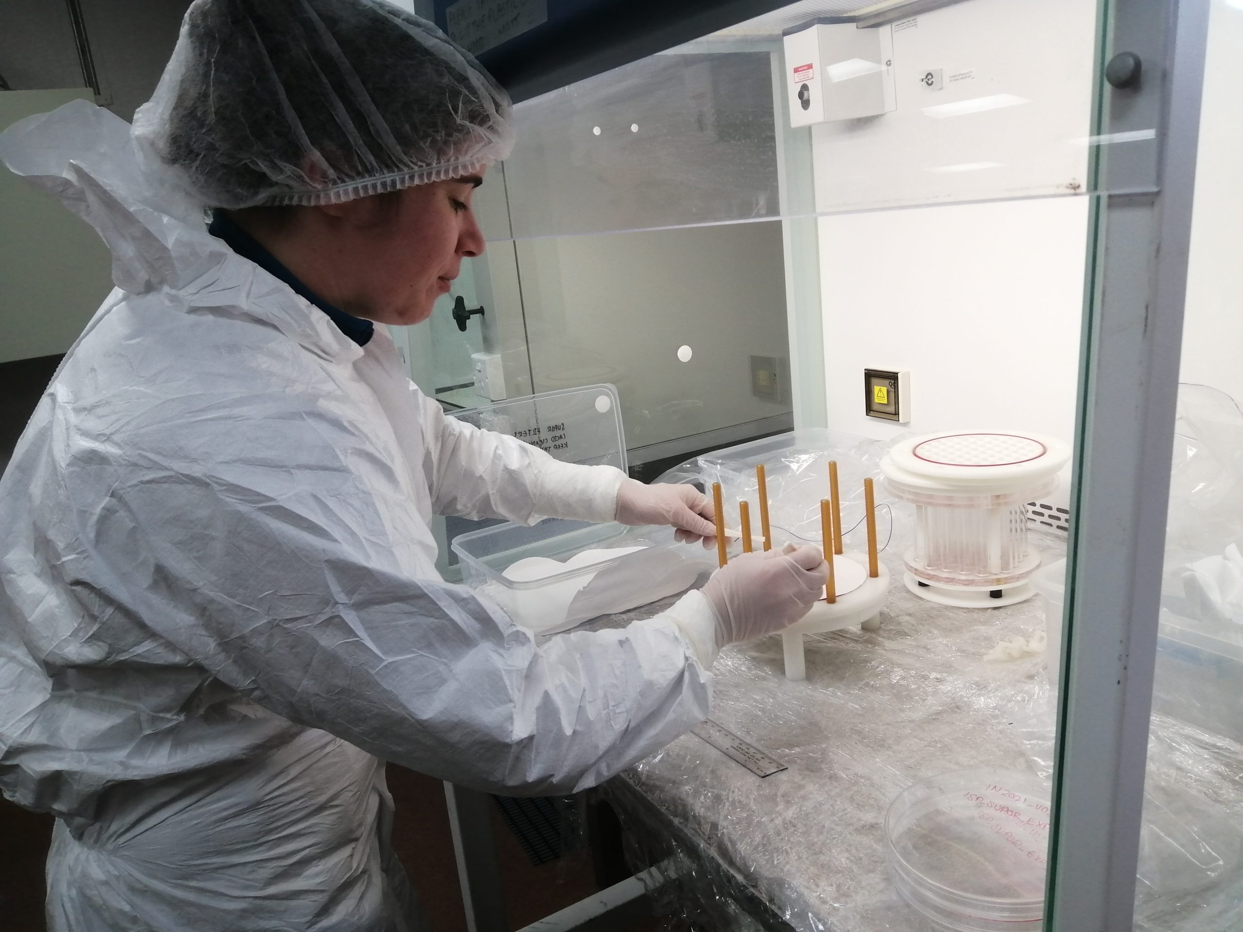 Scientist researching anaemic oceans.
