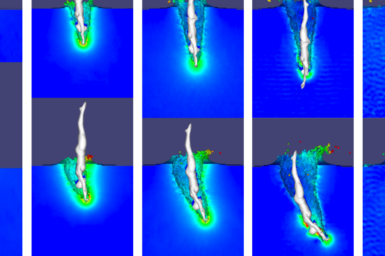 A virtual representation of the stages of a dive underwater.